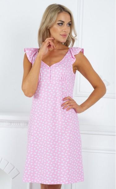 "Ночная сорочка ""бабочки на розовом"""